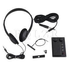 Violin Silent Eq Pickup Piezo With Headphone Black ใหม่ล่าสุด