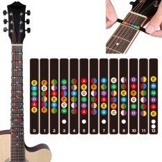 กันน้ำสากลกีตาร์ Fretboard ป้าย Fingerboard Fret สติกเกอร์ 2 สี.
