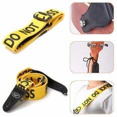 ทบทวน Yellow Police Line Pattern Adjustable Guitar Strap Durable Belt Acoustic Bass Intl Unbranded Generic
