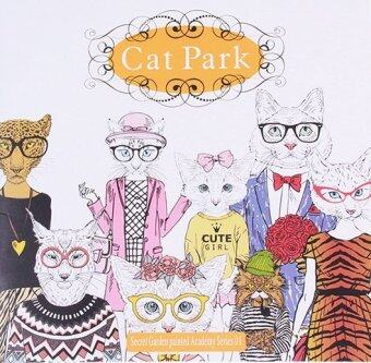 Yingwei Coloring Book Cat Park 24 Pages Chinese