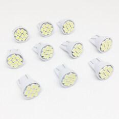 ราคา 10 ตัว ไฟหรี่ Led Smd ขั้ว T10 10 เม็ด แสงสีขาว ราคาถูกที่สุด