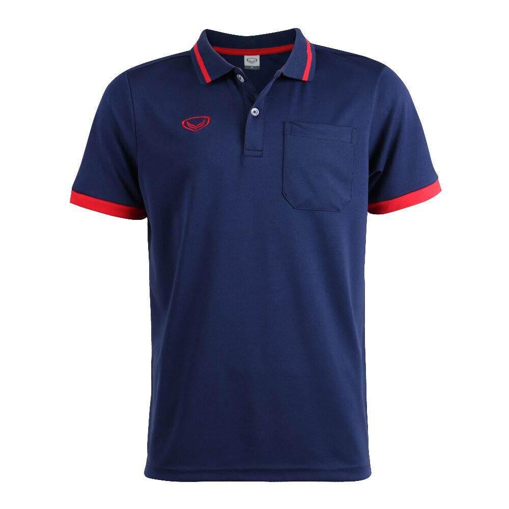 Grand Sport ผู้ชาย เสื้อโปโล เสื้อคอปก ทรงผู้ชาย มีกระเป๋าหน้าอก แกรนด์สปอร์ต ของแท้ 7 วัน 7 สี ราคาถูกกว่าป้าย.