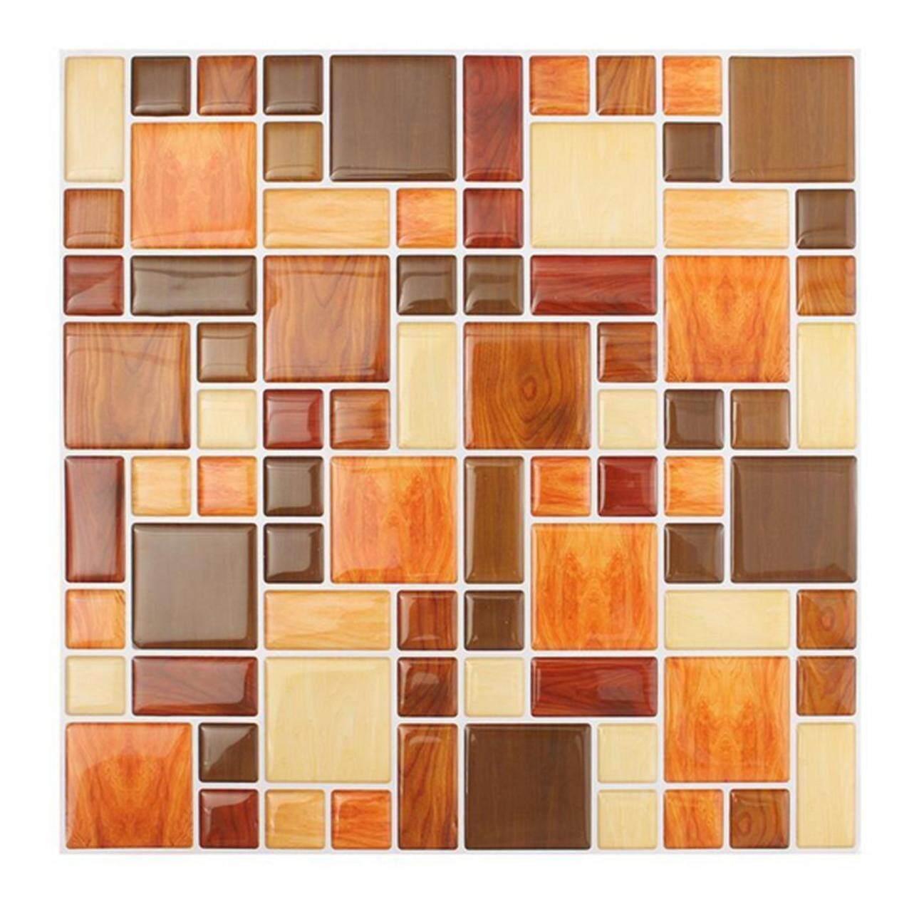 Waterproof Self Adhesive Mosaic Brick 3D Wall Sticker Backsplash Wallpaper for Bathroom Kitchen
