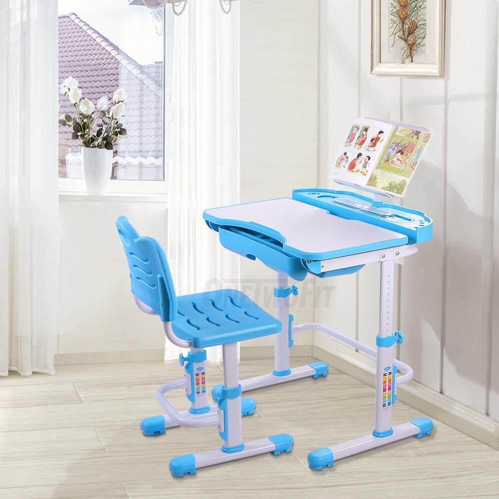 Nidouillet เซ็ทโต๊ะและเก้าอี้เด็ก ชุดโต๊ะและเก้าอี้เด็ก ปรับระดับได้ ชุดเด็กเล็ก ชุดโต๊ะทำงาน พร้อมลิ้นชัก By Nidouillet.