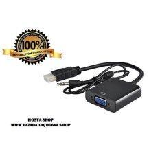 1080P HDMI Male to VGA Female + Audio Converter (Black)