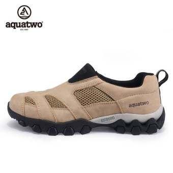 108Trend Aquatwo S269 รองเท้าหนังวัวแท้กันน้ำ ใส่สบาย สไตล์หรูหรา (ครีม)