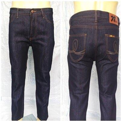 กางเกงยีนส์ผู้ชายผ้ายีนส์ไม่ยืด กางเกงยีนส์ขากระบอกเล็ก ยีนส์ผ้าด้านล้างน้ำไม่ยืด ทรงกระบอกเล็กสุดฮิตแฟชั่น.