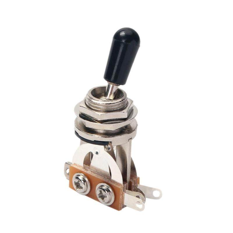 5Pcs Guitar Toggle Switch 3 Way Pickup Selector Switches For Guitar Replacement Part,Nickel Plated/Black Tip Malaysia