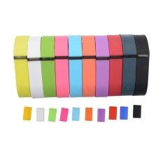 ขาย 10Pcs Colorful Replacement Wristband W Metal Clasp For Fitbit Flex S Size ถูก