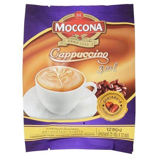 มอคโคน่า คาปูชิโน กาแฟปรุงสำเร็จชนิดผง 3อิน1 25กรัม X 12 ซองกาแฟสำหรับ ชงและดื่ม.
