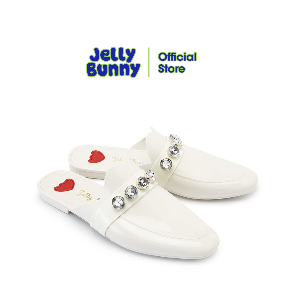 Jelly Bunny Doll Dawn เจลลี่ บันนี่ ดอล ดอน B21slll005 รองเท้าเปิดส้นแบบสวม รองเท้าส้นแบน รองเท้าแฟชั่น รองเท้าลำลอง รองเท้าผู้หญิง.