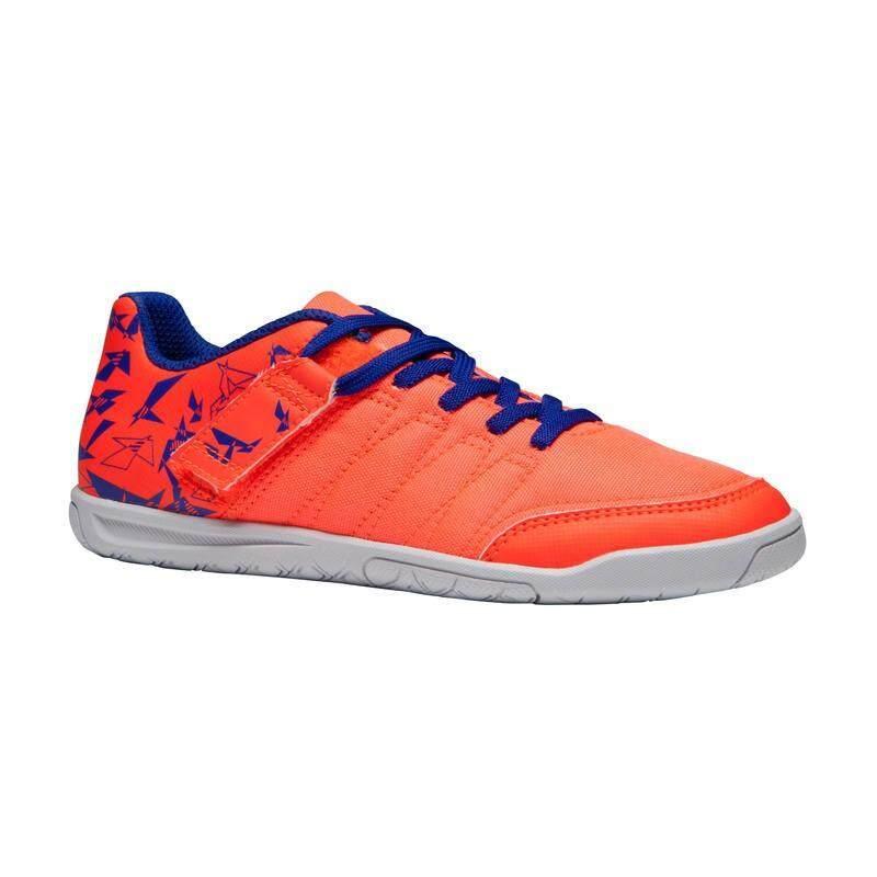 รองเท้าฝึกซ้อมฟุตซอลสำหรับเด็กรุ่น Clr 500 Sala (สีส้ม/น้ำเงิน) By Pank19.