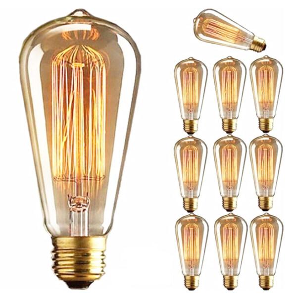 Bảng giá YESMILE 1 PC Warm White Screw connector Decoration Ball light Antique Incandescent Filament Vintage Retro Bulb Edison Lamp Glass