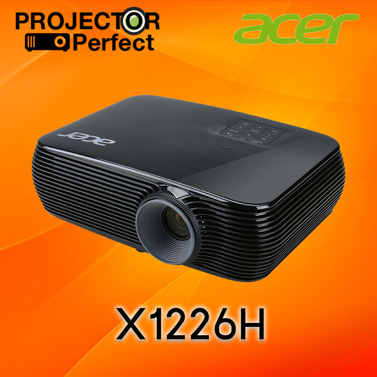 Acer X1226h Dlp Projector เครื่องฉายภาพโปรเจคเตอร์ ยี่ห้อ เอเซอร์ รุ่น X1226h (4,000 Ansi Lumens/xga) ความสว่างสูง ประกัน 3 ปีเต็ม.