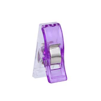 100ชิ้นสีม่วงมินิ Hemming คลิปสำหรับเย็บผ้าเส้นด้ายสานงานฝีมือเย็บปักถักร้อยแพ็ค