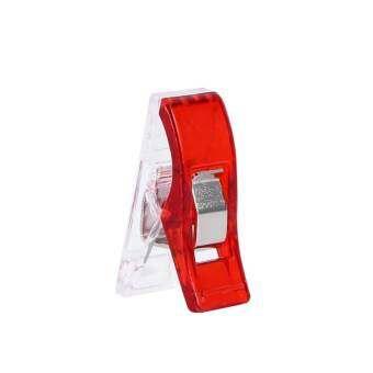 100 ชิ้นสีแดงจักรเย็บผ้าเล็กถักคลิปหนีบริมสำหรับหัตถกรรม - INTL-