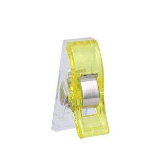 100ชิ้นสีเหลืองมินิ Hemming คลิปสำหรับเย็บผ้าเส้นด้ายสานงานฝีมือเย็บปักถักร้อยแพ็ค
