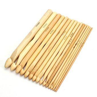 16 Sizes 6inch Bamboo Knitting Weave Needle Afgan Crochet Hooks Craft 2.0-12.0mm