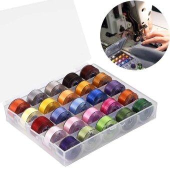 25 Pcs Machine Bobbins Sewing Thread for Brother/ Babylock/ Janome/ Kenmore/ Singer - intl