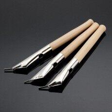 3 สแตนเลสประติมากรรมผ้า Tjanting Spout WAX พิมพ์ลายบาติกปากกาเครื่องมือ