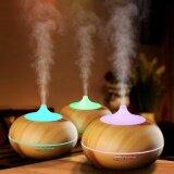 ส่วนลด 300Ml Cool Mist Humidifier Ultrasonic Aroma Essential Oil Diffuser Wood Grain Intl Unbranded Generic จีน