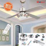 ซื้อ 48 Inches Fans Led Cooling Ceiling Fan Light การระบายความร้อน แฟน Ac 90 260V With Remote Control For Living Bed Room Ceiling Fans ถูก