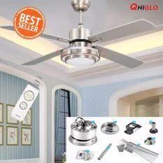ซื้อ 48 Inches Fans Led Cooling Ceiling Fan Light การระบายความร้อน แฟน Ac 90 260V With Remote Control For Living Bed Room Ceiling Fans ใน กรุงเทพมหานคร