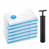 ส่วนลด 6 Pcs Vacuum Storage Bags For Travel Blankets Coats Clothes With Free Pump Intl Waypai จีน