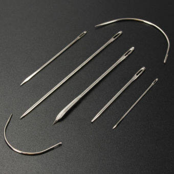 7x Stainless Hand Upholstery Sewing Needles Carpet Curved Canvas Kits Needle