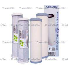 Aquatekไส้กรองน้ำ เซรามิก 10นิ้ว Dia2 5 2ชิ้น Hydro Max คาร์บอนบล๊อค 10นิ้ว 2ชิ้น รวม 4 ชิ้น เป็นต้นฉบับ