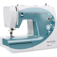 ราคา Bernette จักรเย็บผ้า รุ่นMilan3 ลายเย็บ 21 ลาย เย็บผ้ายีนส์ได้ 6 ชั้น รังดุมอัตโนมัติ สีฟ้า ออนไลน์ กรุงเทพมหานคร
