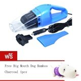 Best 100W Wet And Dry Portable Car Vacuum Cleaner เครื่องดูดฝุ่นในรถยนต์ Blue Free Long Haired Dog Bamboo Charcoal Package Violet ถูก