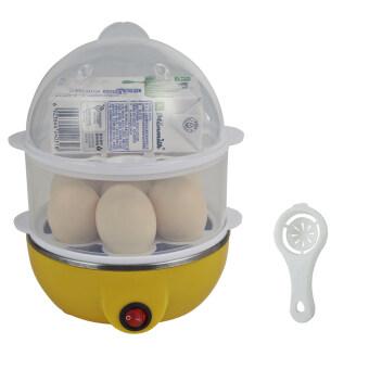 BEST Dmall เครื่องต้มไข่ หม้อนึ่งอเนกประสงค์ 2 ชั้น (Yellow) + Egg white separator