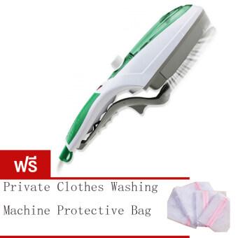 BEST Tmall stream iron brush เตารีดไอน้ำพกพา 1000 วัตต์ - สีเขียว (Free Private clothes washing machine protective bag)
