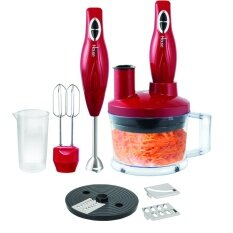 Blue House Hand Blender Set Rosso ชุดเครื่องปั่นมือถือ รุ่น BH5551BS (Stainless/Red)