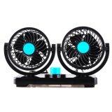 ซื้อ Buybuytech Huxin Vehicle Fan พัดลมคู่ ติดรถยนต์ รุ่น T303 สีดำ น้ำเงิน Huxin