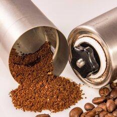 โปรโมชั่น เครื่องบดเมล็ดกาแฟ สแตนเลส แบบมือหมุน Stainless Steel Hand Coffee Grinder Silver กรุงเทพมหานคร