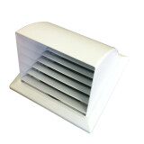 ซื้อ Gflow Canopy ท่อ 4 มีเกร็ด สีขาว หน้ากากท่อระบายอากาศฝาครอบโค้ง