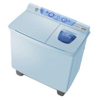 Hitachi เครื่องซักผ้า 2 ถังฝาบน - รุ่นPS-80 LJ สีฟ้า