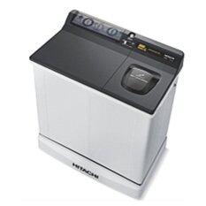 Hitachi เครื่องซักผ้าสองถัง รุ่น Ps 85 Lsj สีเทาเข้ม ไทย