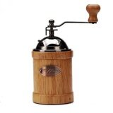 Home 23 2400 Hand Crank Manual Canister Stainless Steel Burr Coffee Grinder Mill Stainless Steel Top And Solid Wood Body 3 4 X6 6 Intl ใน จีน