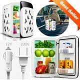 ราคา Hot Item 15L Mini Refrigerator ตู้เย็นมินิ 15 ลิตร ไฟบ้าน ไฟรถ ขาวลายวัว Hot Item ใหม่
