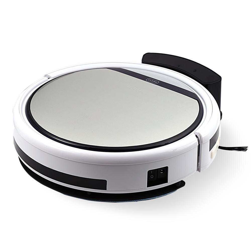ซื้อ  ilife Intelligent Robotic Vacuum Cleaner LCD Touch Screen Self-charge HEPA Filter Sensor Remote Control Robot Aspirador - intl ลดราคา 2019