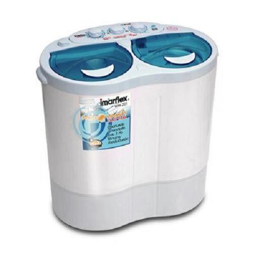 ถูกเหลือเชื่อ เครื่องซักผ้า Sharp ลดโปรโมชั่น -60% เครื่องซักผ้า 2 ถัง SHARP ES TW80BL , 8KG (สีทูโทน) ลดราคาเกินครึ่ง
