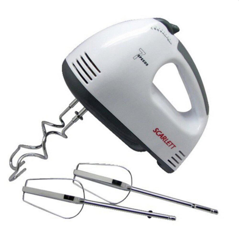 iremax Electric 7 Speed Egg Beater Flour Mixer Mini Electric Hand Held Mixer (White)