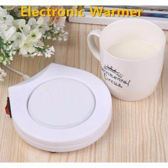 LIE เครื่องอุ่น ชา กาแฟ และ เครื่องดื่มร้อน พกพา Electronic Cup Warmer (White) -
