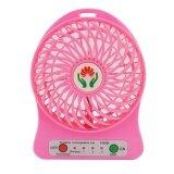 โปรโมชั่น Lileng พัดลมพกพา Usb Fan 2In1 สีชมพู Lileng