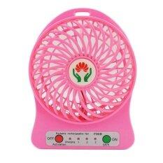 ขาย Lileng พัดลมพกพา Usb Fan 2In1 สีชมพู ใน ไทย