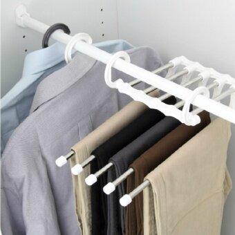 Nachuan ตู้เสื้อผ้าหลายชั้นแขวนกางเกงเวสต์แร็คกางเกงชั้นมายากล