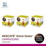 ราคา Nescafe Dolce Gusto Cappuccino แคปซูลกาแฟ จำนวน 1 แพ็ค รวม 3 กล่อง กล่องละ 16 แคปซูล ใหม่ล่าสุด